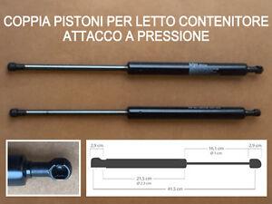 DUE PISTONI A GAS DI RICAMBIO PER LETTO CONTENITORE-1150 N-ATTACCO A ...