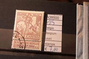 STAMPS-FRANCOBOLLI-BELGIO-BELGIUM-USATI-85-A38500