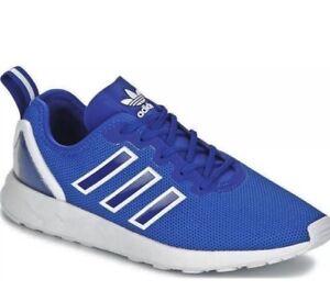 2df07b63fdd0b New Adidas ZX Flux ADV Trainers Running Sports Mesh Blue Mens Heel ...