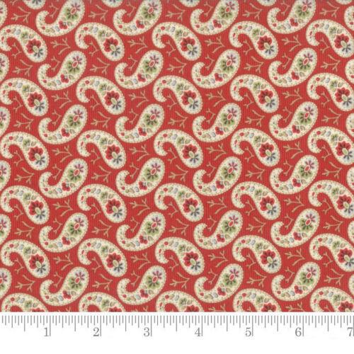 Per 1//4 Metre Moda Fabric Snowfall Prints Paisley Poinsettia Red