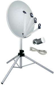 antenne satellite portable parabole 65cm trepied tntsat. Black Bedroom Furniture Sets. Home Design Ideas