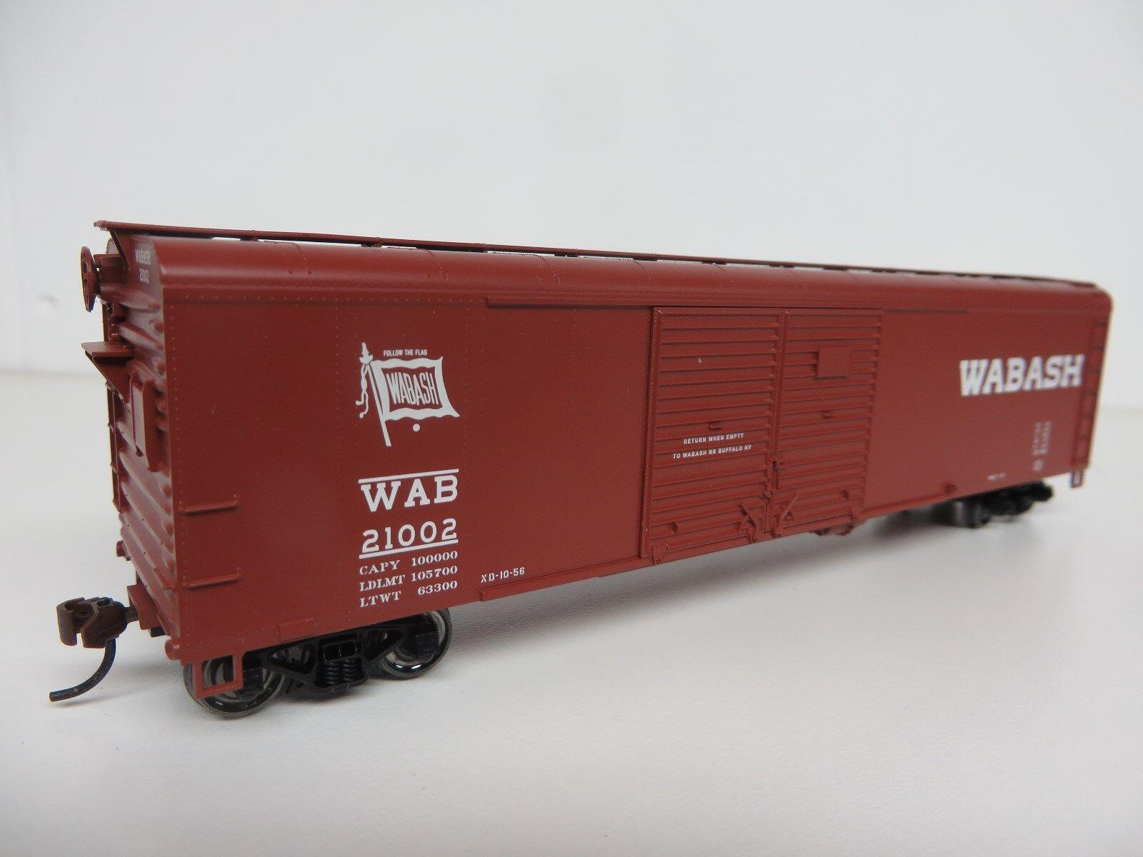 Bowser  WABASH 50' Double Door Box Car Set (3 cars   3  's) R-T-R NIB