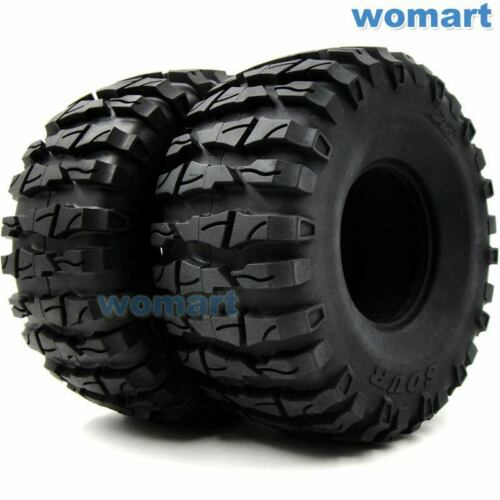 5pcs RC 2.2 Truck Crawler Tires Tyres OD 135mm AR Sour Fit 2.2 Beadlock Rims Black