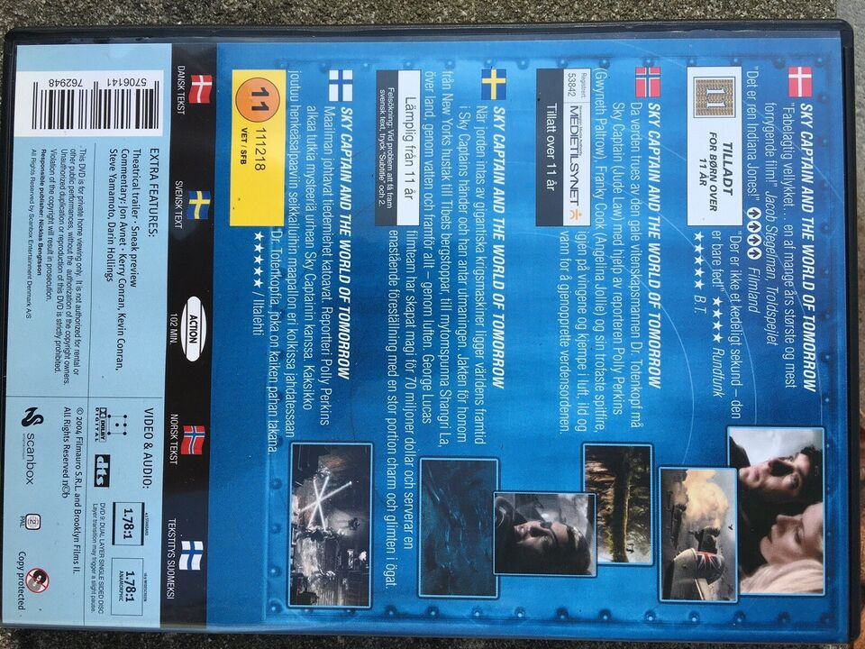 Sky captain and The World of tomorrow, DVD, drama
