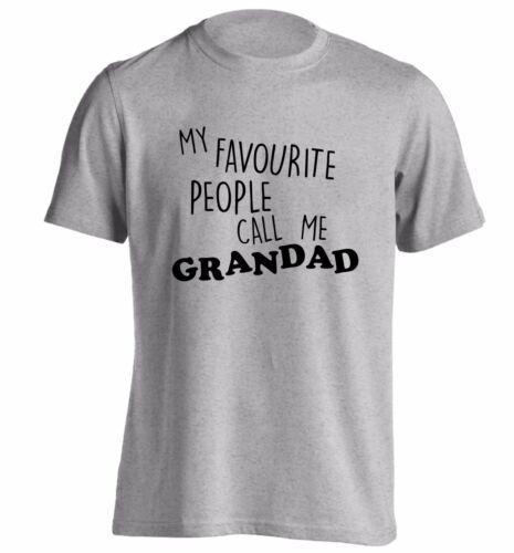 My favourite people call me grandad t-shirt grandson grand daughter grandma 393