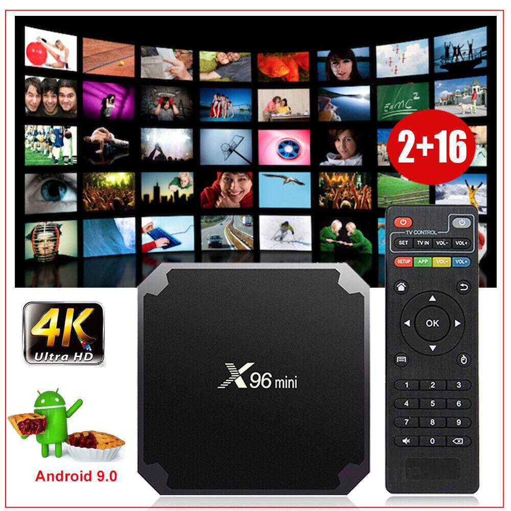 X96MINI Android 9.0 Pie Smart TV BOX Quad Core 2+16G 4K Media HDMI 2.0 MINIPC US android box core hdmi media minipc pie quad smart x96mini