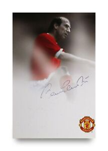 Sir-Bobby-Charlton-Signed-6x4-Photo-Card-Manchester-United-England-Autograph-COA