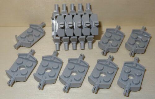 Nr.5478 Lego 6157 City 18 breite hellgraue Platten 2x2 mit Pin