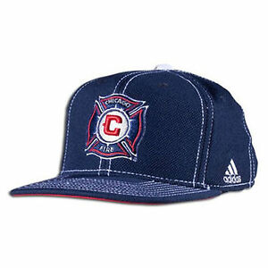 1d0004b3ae1cb Chicago Fire Snapback MLS Team Adidas Climalite Cap Licensed Flat ...