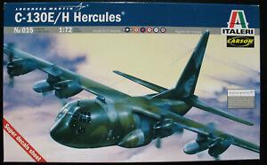 ITALERI-015-Lockheed-C-130E-H-Hercules-1-72-Flugzeug-Modellbausatz-Kit