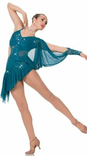IN STOCK Gorgeous Cut Out Contemporary Modern Purple Dance Costume Adult Small