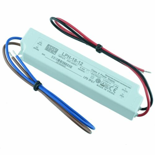 LPH-18-12 Mean Well 18W 12V LED Power Supply Driver IP67