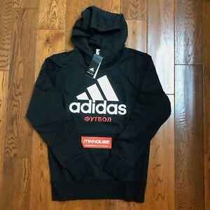 Details about New Gosha Rubchinskiy x Adidas Hooded Sweatshirt Hoodie Black supreme Size S