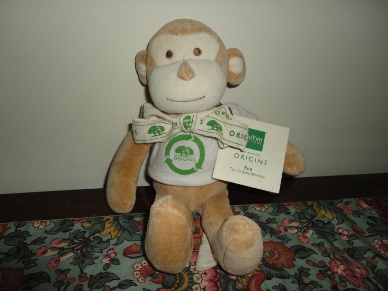 ORIGINS Cotton ECO MONKEY Organic Plush Baby Toy 2009 New