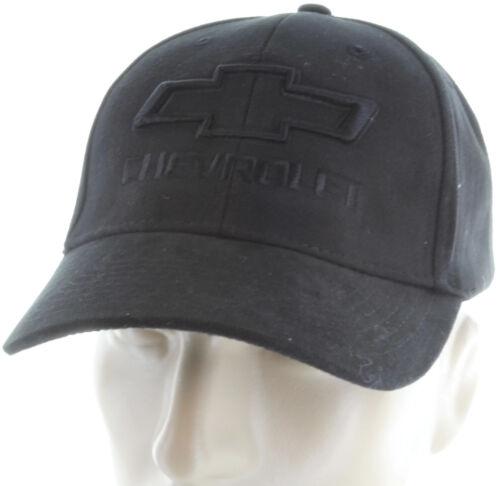 Chevrolet Silverado Tone on Tone Black Baseball Cap Trucker Hat Snapback Truck