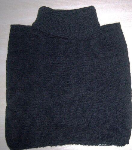 Rollkragen Einsatz Rollkrageneinsatz Krageneinsatz Strick Strickkragen schwarz