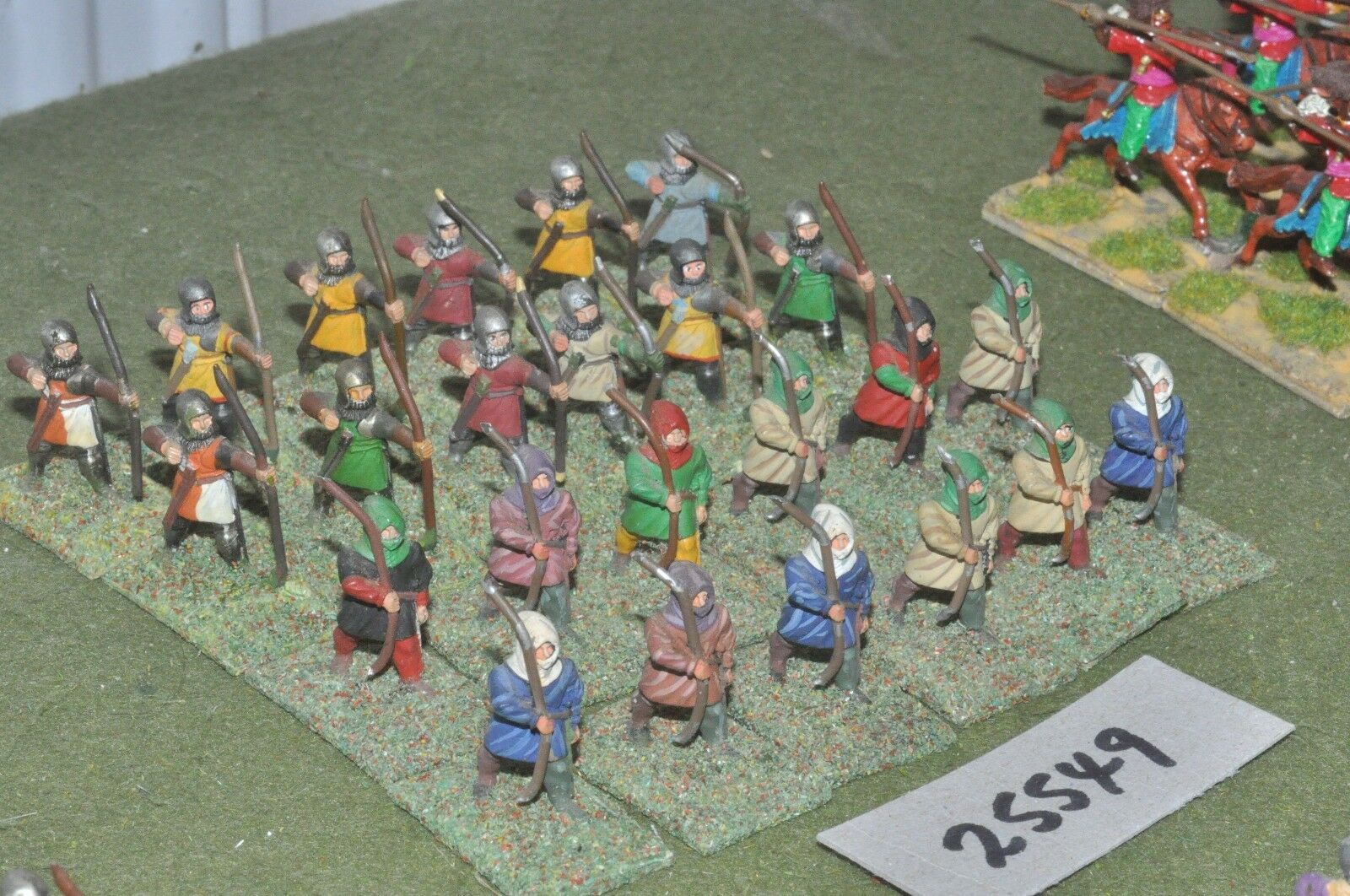 25mm medieval   english - longbowmen 24 figures - inf (25549)
