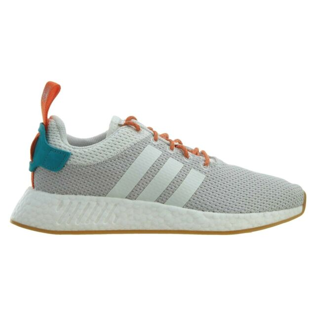 161abed5 adidas NMD R2 Summer Mens CQ3080 Grey White Orange Boost Running Shoes Size  9