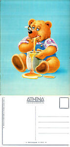 1980-039-s-HONEY-BEAR-BY-JOHN-REILLY-UNUSED-ATHENA-COLOUR-POSTCARD
