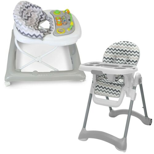 Beautiful Matching Starter Bundle Baby Walker And Highchair Chevy