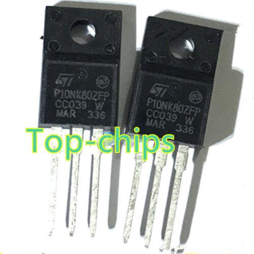 2 PCS STP10NK80ZFP P10NK80ZFP 800V 0.78ohm 9A TO-220FP Power MOSFET New ST