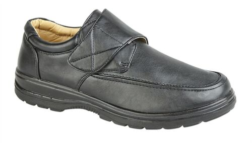 Mens Formal Shoes Touch Fastening Casual Smart Wear Lightweight Size