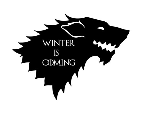 2x Winter Is Coming Stark Game Of Thrones Funny Bumper Car Sticker Vinyl Decal