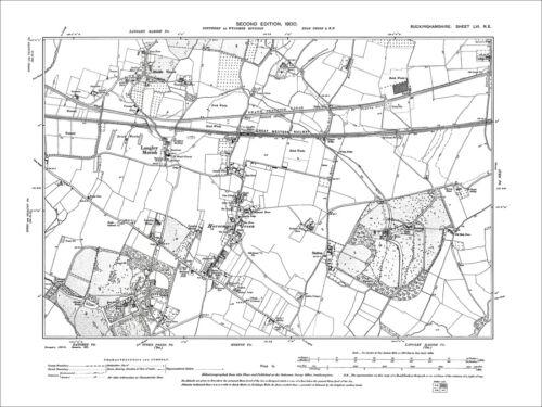 56NE Langley Marsh Horsemoor Green old map Bucks 1900