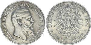 1888A 2 Marco Friedrich III Alemán Kaiser, König De Prusia 58037
