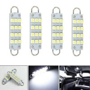 4X-561-562-567-564-12SMD-44mm-Blanco-Bucle-Rigido-LED-Coche-Bombillas-Accesorios-W