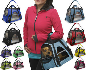 Image Is Loading Oxgord Pet Carrier Soft Sided Cat Dog Comfort