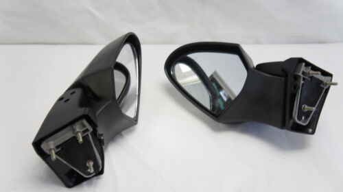 Chrome rear view mirrors set fits Kawasaki 1400 14 ZG1400 Concours 2007-09