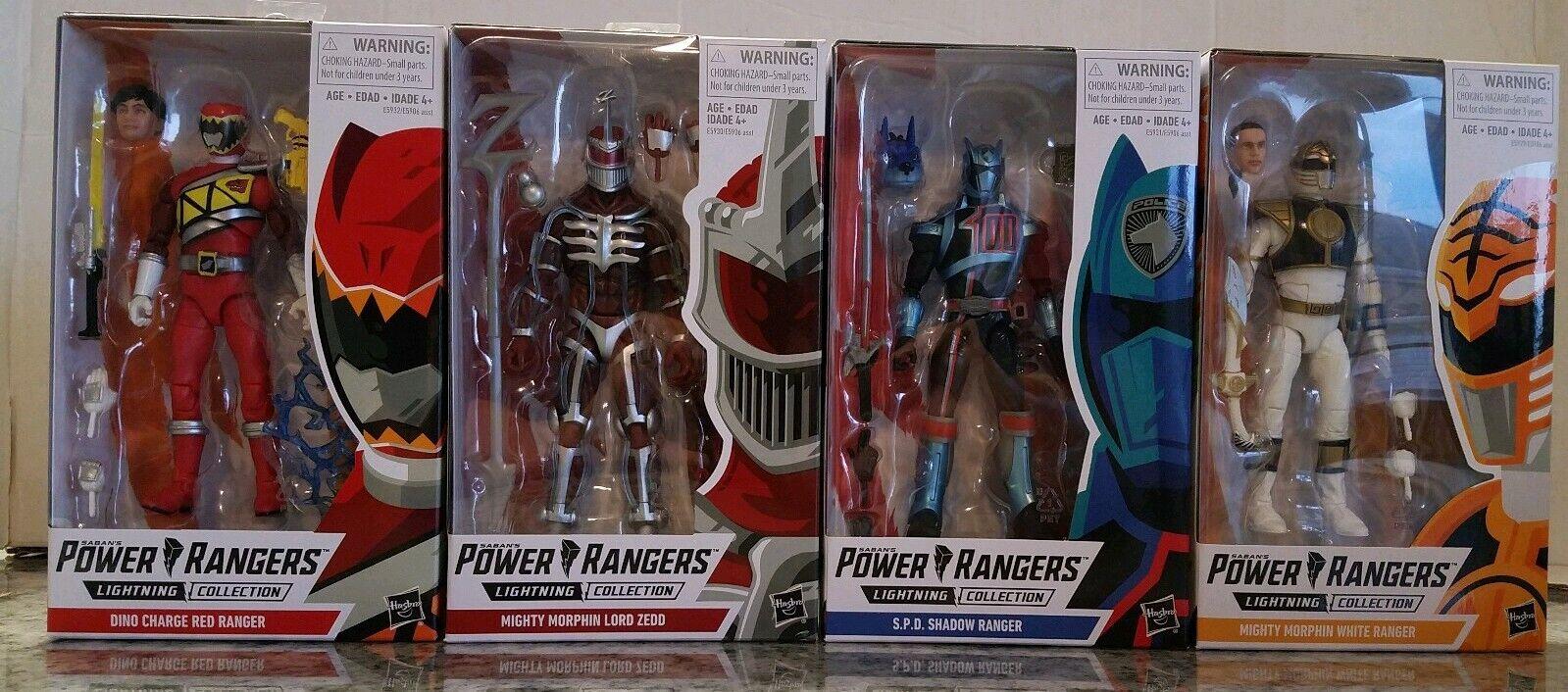 energia Rangers Lightning collezione azione cifra Wave 1 completare Set Hasbro ZEDD