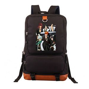 Bleach-Anime-Backpack-School-Shoulder-Laptop-travel-Student-bag-New-wtag