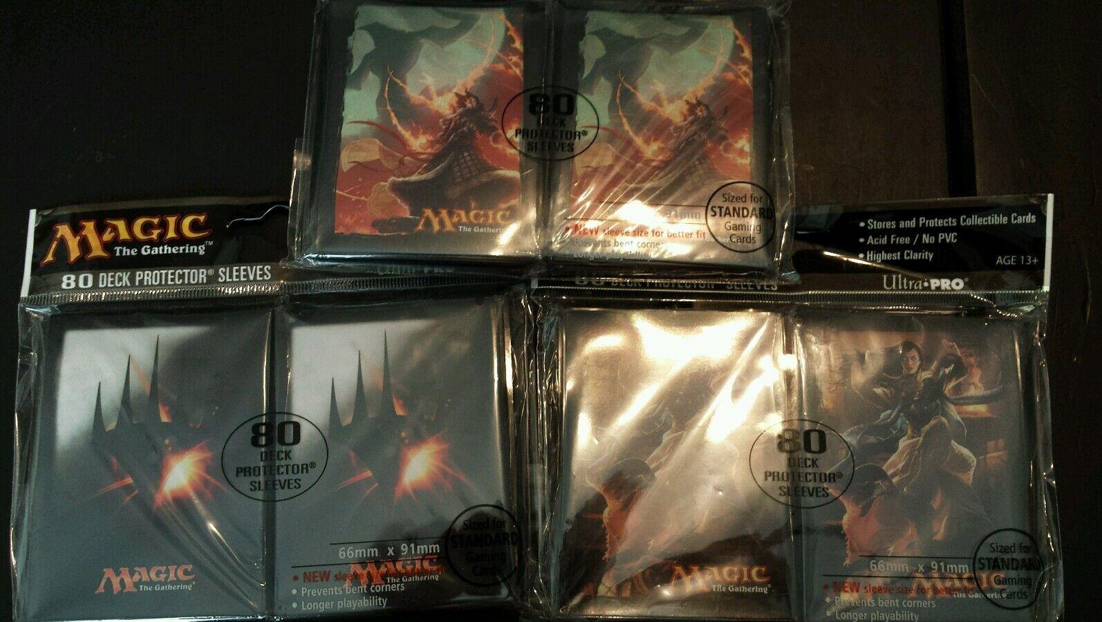 NIP Magic the Gathering Card Sleeves (3)80 ct pks pks pks aad874