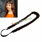 Synthetic Braided Braids Plaited Plait Elastic Hair Head Band Headband Hairband