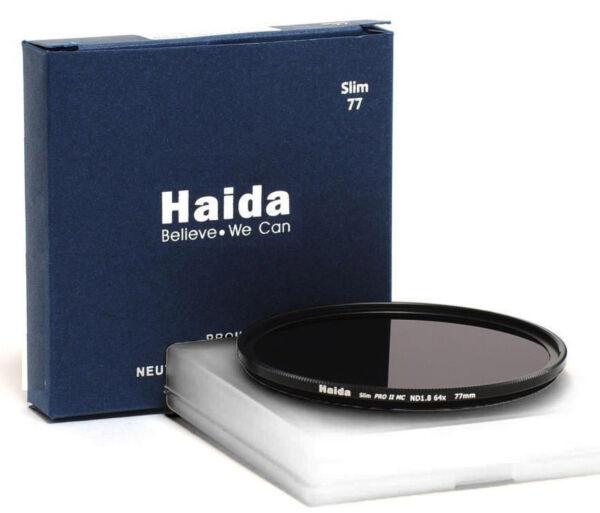 Complexé Compacte Haida 77 Mm Pro Ii Mc Nd1.8 64x Nd64 Densité Neutre Gris Filtre Hd2018