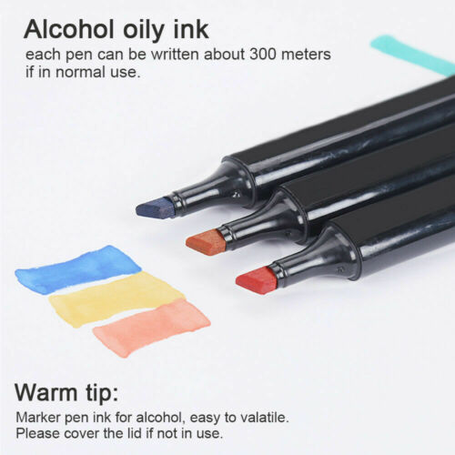 80+3 Lackmarker Stifte Set Touch Copic 1//6mm Twin Tip Sketch Painting Handschuhe