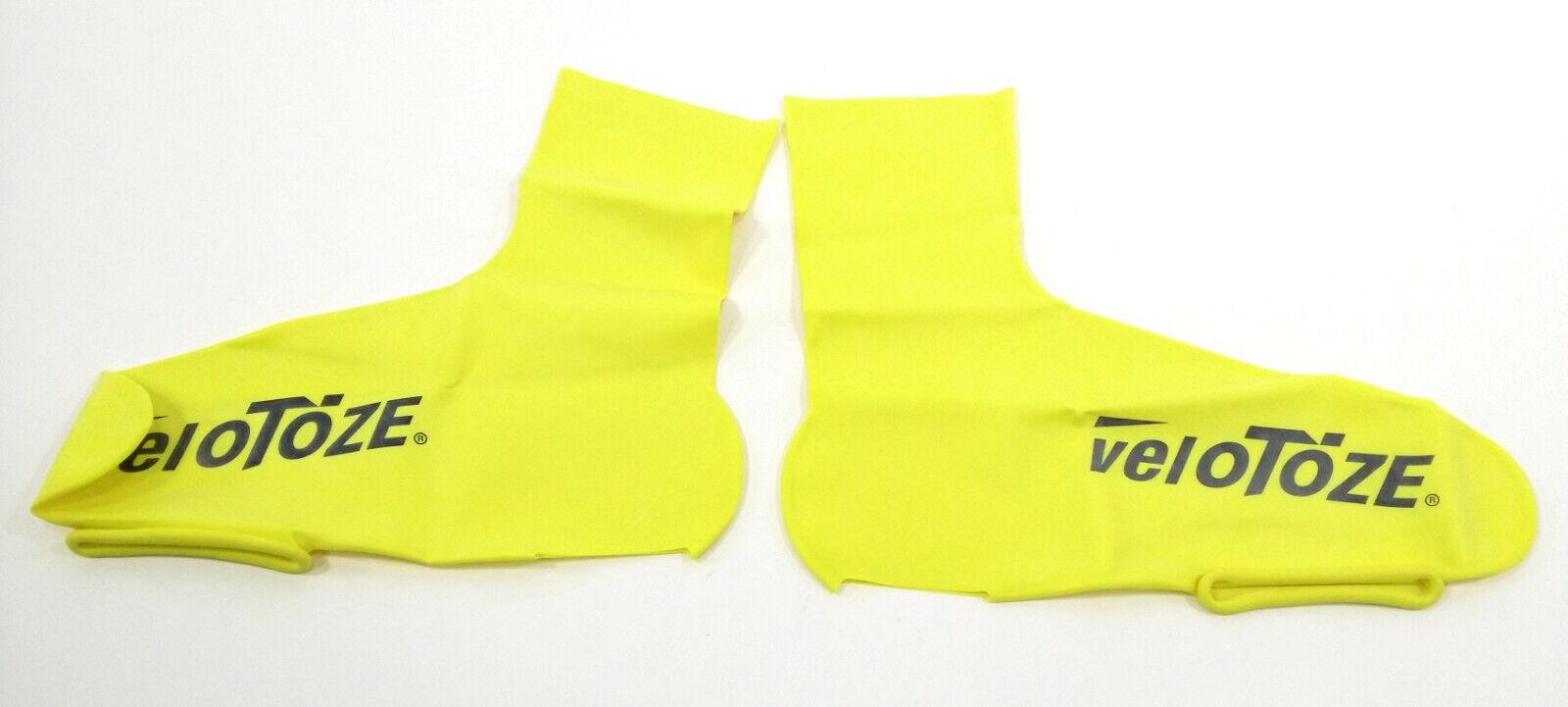 46.5-49 Velotoze Tall Bike Shoe Covers Day Glo Yellow XL