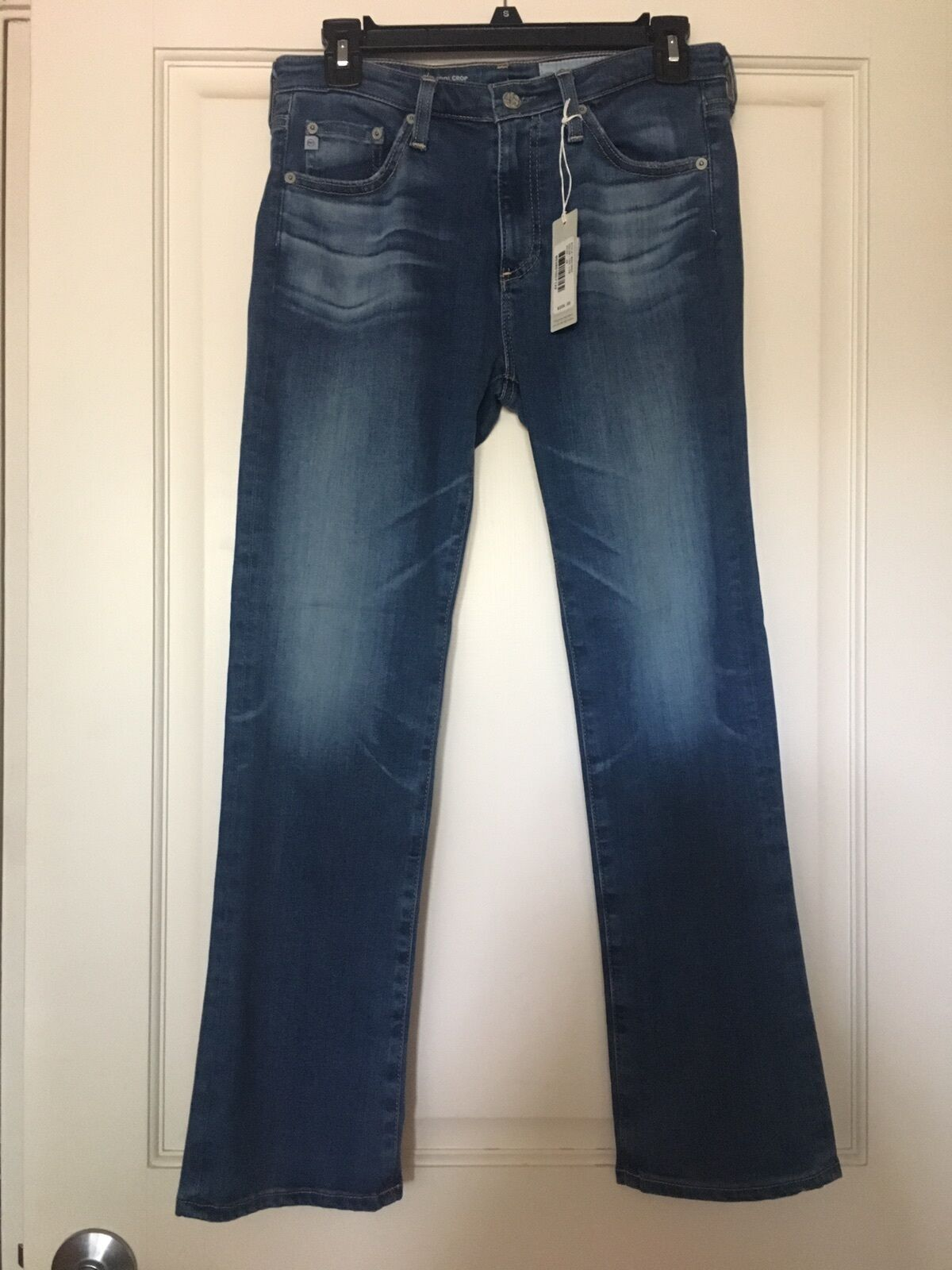 NWT AG Adriano goldschmied Denim Jeans Long Pant, Size 26, The Jodi Crop