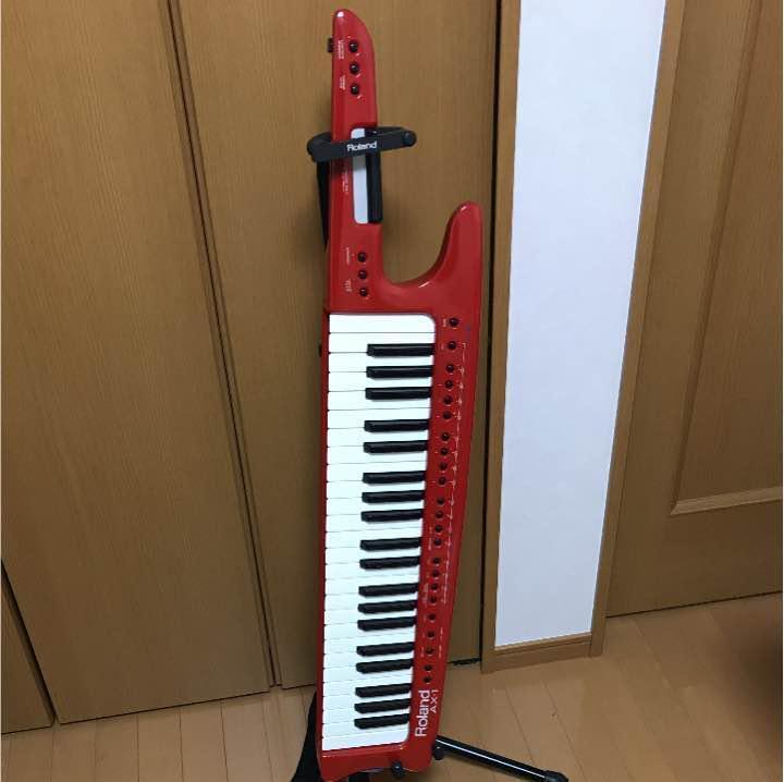 Roland AX-1 AX1 Shoulder Keytar keyboard MIDI Controller rot Used