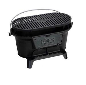 Details About Lodge Pre Seasoned Sportsman S Cast Iron Charcoal Grill Bbq Outdoor Hibachi