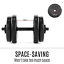thumbnail 3 - 20KG Dumbbell Adjustable Weight Set Home Gym Core Fitness Space Saving Fortis AU