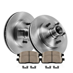 Front-Premium-OE-Brake-Rotors-amp-Ceramic-Pads-For-Ford-F150-2WD-5Lug-Blackwood