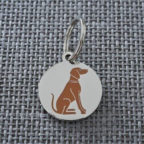Vizsla ID Name Tag//Keyring Gift//Present Key Ring Dog
