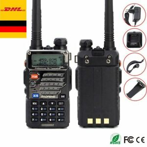 UV-5R-Plus-Amateurfunk-Hand-funkgeraet-Walkie-Talkie-PMR-CTCSS-BaoFeng-Headset