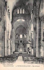 POSTAL-CLERMONT-FERRAND-Notre-Dame-Puerto-Vista-interior