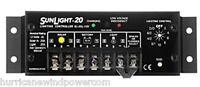 Morningstar Sl 20l 12v   Sunlight - 20 Amp 12 Volt Solar Charge Controller W/lvd