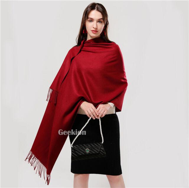 2PLY 100/% Cashmere Scarf Soft White Black HoundsTooth Scotland Wool Men Wrap