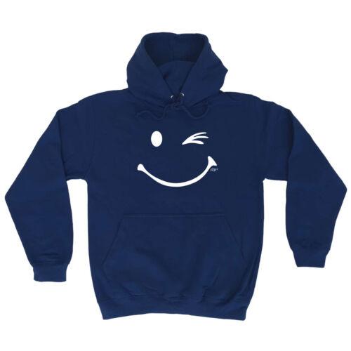 Smile Wink Funny Novelty Hoodie Hoody hooded Top